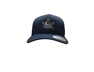 YP Navy Classic Trucker Snap Back Curve Vocal Logo