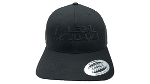 YP Black Classic Trucker Snap Back Curve V/T