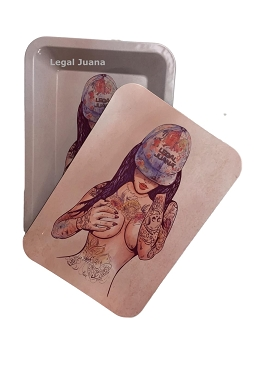 Tattoo Girl Rolling Tray