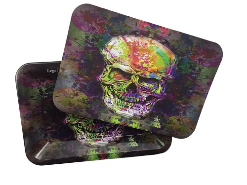 Skull Tray with lid opened